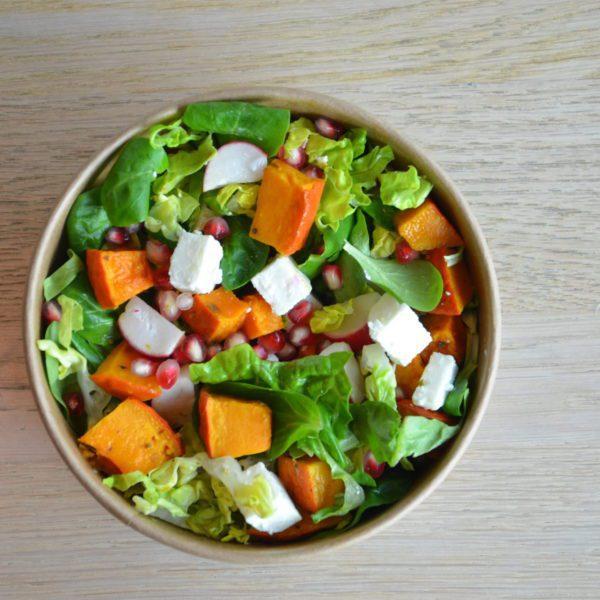 Süsskartoffel Nüssli Quinoa Salat