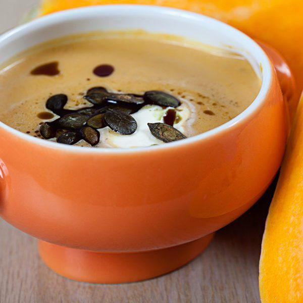 Kürbis-Ingwer-Kokos Suppe