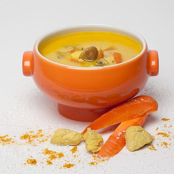 Ananas Curry Poulet Suppe